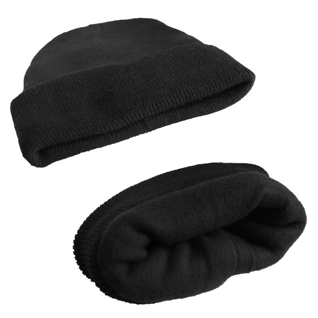 Men's Touch Screen Gloves and Fleece Lined Hat Combo Set