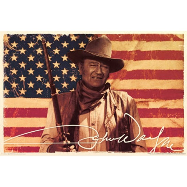 John Wayne Flag Poster