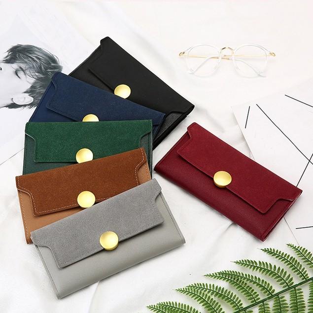 Women's Fashion Frosted Style Hasp Handbag Long Wallet Billfold Purse