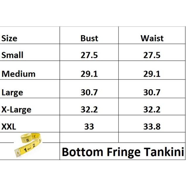 Bottom Fringe Tankini