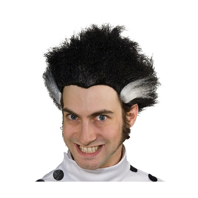Black Wig With White Streaks