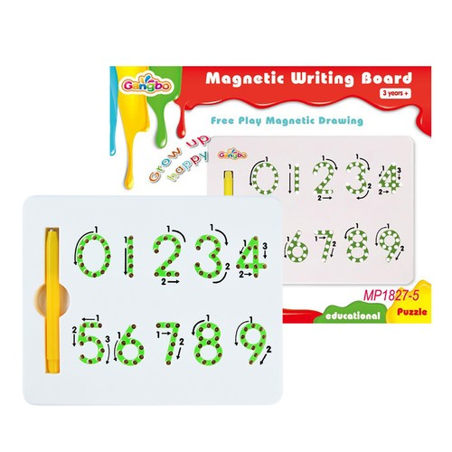 MAGNETIC NUMBERS TABLET/BOARD WITH STYLUS PEN
