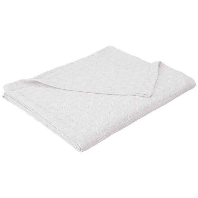Basket Weave King Cotton Blanket, lightweight summer blanket