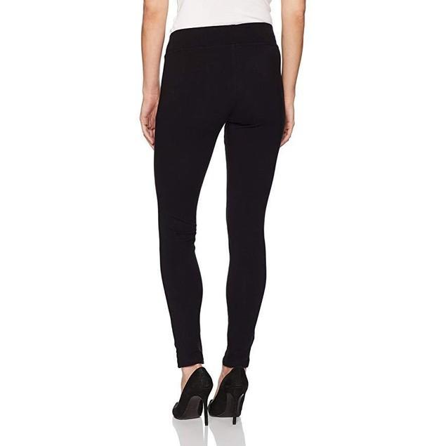 HUE Women's Mesh Trim Cotton Leggings, Black,  sz Large