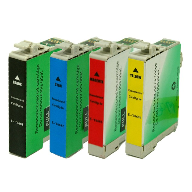 Epson T068 Remanufactured Ink - 4 pack (High Yield)