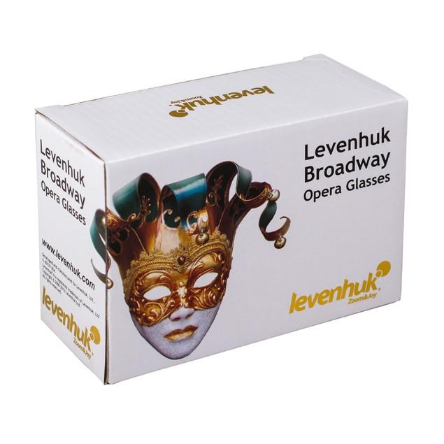 Levenhuk Broadway 325N Opera Glasses lorgnette with LED light - Gold