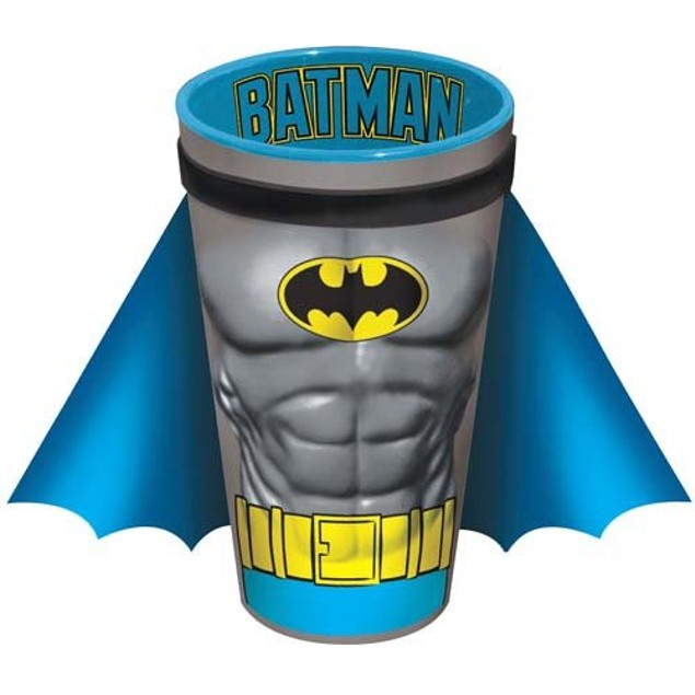 Batman Chest Pint Glass With Cape Muscles Crusader DC Comics Dark Knight