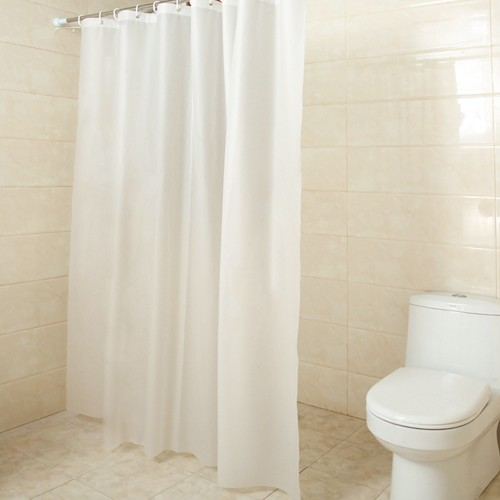 Frosted Shower Curtain Liner PEVA Semi Transparent Shower Curtain 71x71''