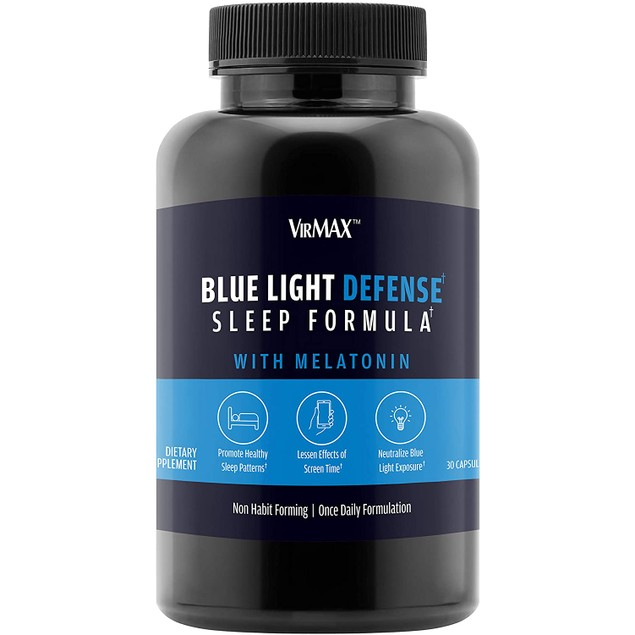 VirMAX Blue Light Defense Sleep Formula, Supports Melatonin, 30 Capsules
