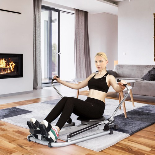 Costway Rowing Machine with Adjustable Double Hydraulic Resistance