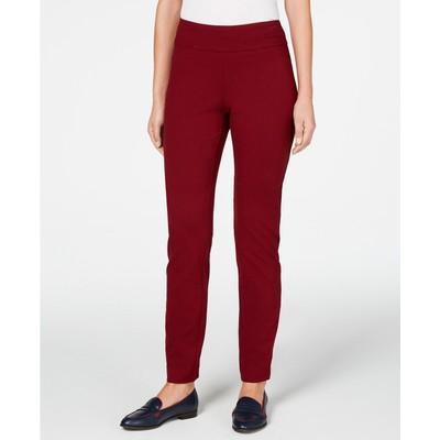 Charter Club Women's Cambridge Pull-On Ponte Pants Red Size 10