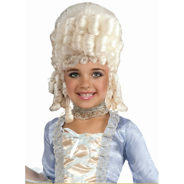 Child Marie Antoinette Wig Pocahontas Blonde Halloween Costume Accessory