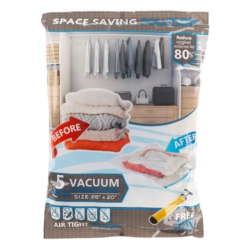 5 Vacuum Storage Bags-Space Saving Air Tight Compression (Medium)