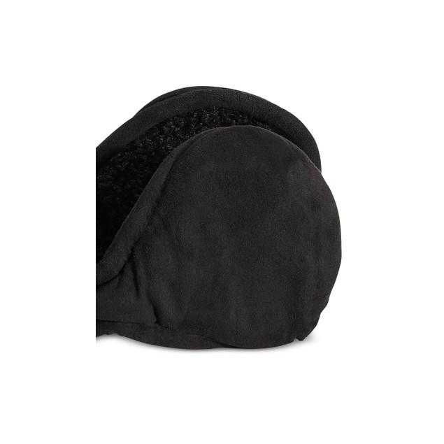 UR Men's Faux-Suede Ear Warmers Black Size Regular