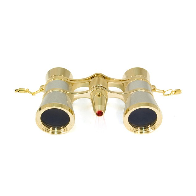 Levenhuk Broadway 325F Opera Glasses with LED Light And Chain - Silver