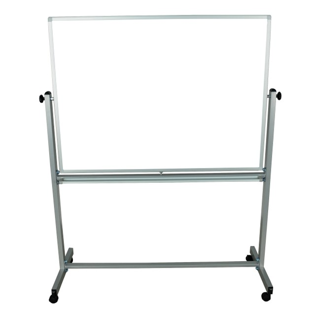 """Luxor 48"""" x 36"""" Double Sided Reversible Magnetic Whiteboard - White, 1 Pack"""
