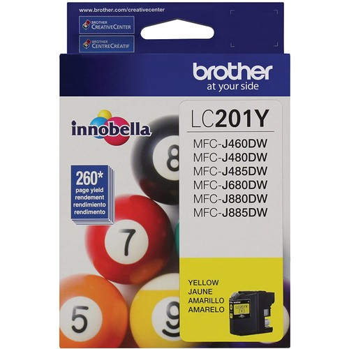 Brothers Brother LC201Y Standard Yield Yellow Ink Cartridge