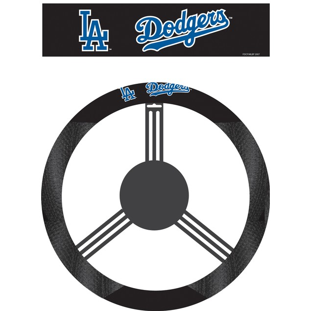 Los Angeles Dodgers Steering Wheel Cover MLB Baseball Team Logo Poly Mesh