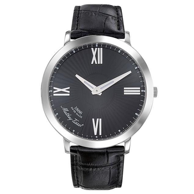 Mathey Tissot Men's Darius Black Dial Watch - H7915AVN