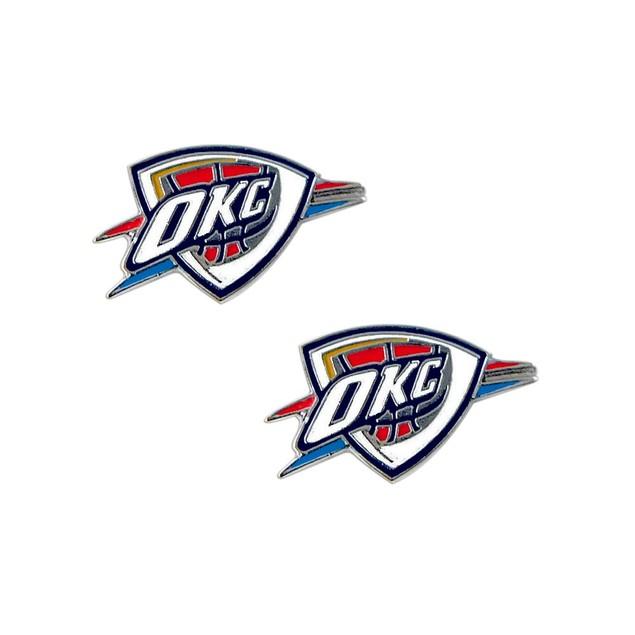 Oklahoma City Thunder Post Stud Earring Set NBA Charm Gift