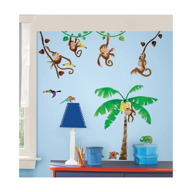 Roommates Nursery Baby Room Wall Decorative Monkey Business Wall Decals
