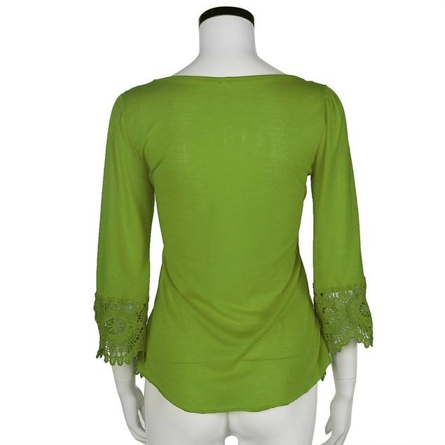 Fashion Women Lace  V Neck T-Shirt Casual Loose Tops Blouse Shirts