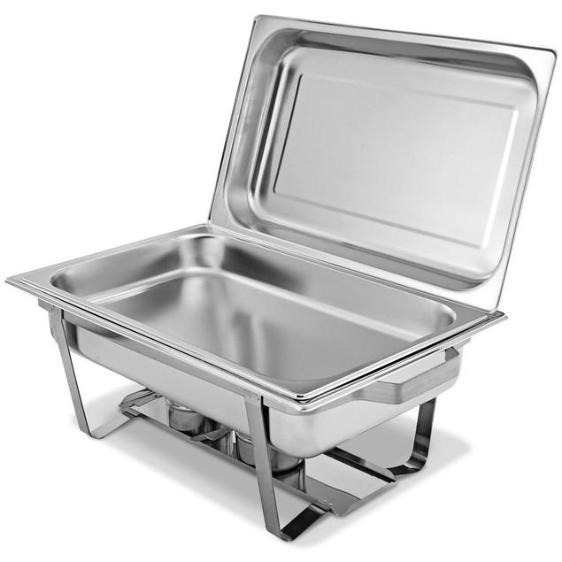 2 Packs Chafing Dish 9 Quart Stainless Steel Rectangular Chafer Full Size B