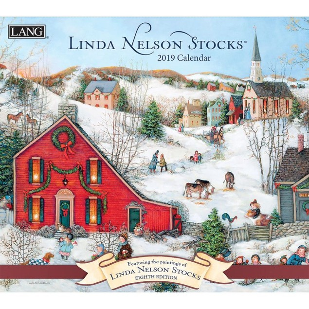 Linda Nelson Stocks Wall Calendar, Lang Folk Art by Calendars