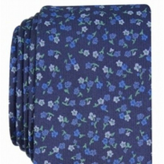 Bar III Men's Penrose Skinny Floral Tie Navy Size Regular