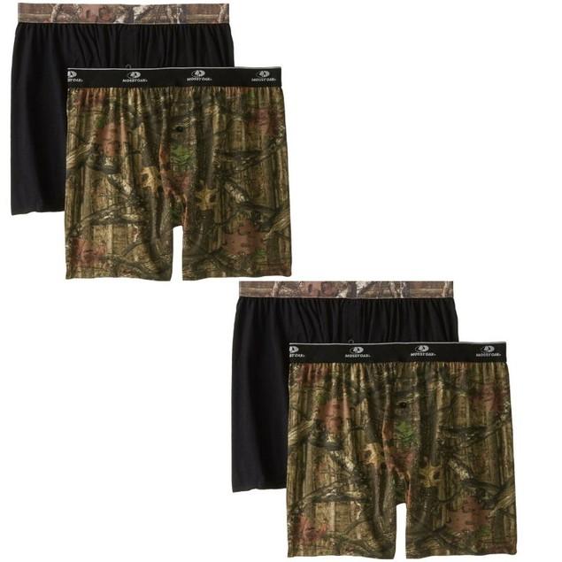 4-Pack Mossy Oak Moisture Wicking Men's Boxer Shorts