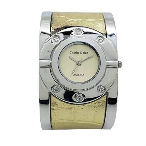 Charles Delon Watches for Womens 4334 LPCD Silver/Gold Stainless Steel Quartz