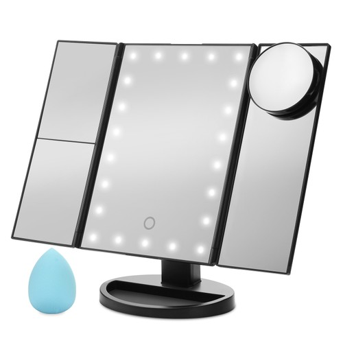 Vanity Mirror, FITNATE 21 LED Brighter Hollywood Mirror  Touch Screen