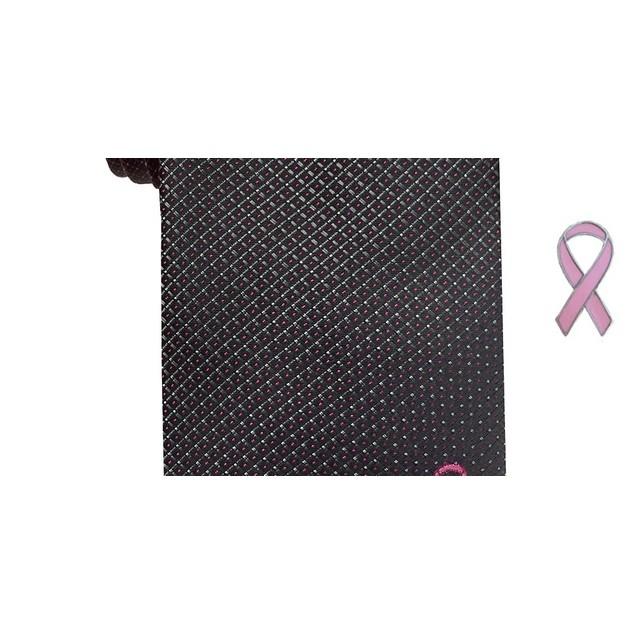 Susan G Komen Men's Micro Neat Tie Black Size Regular