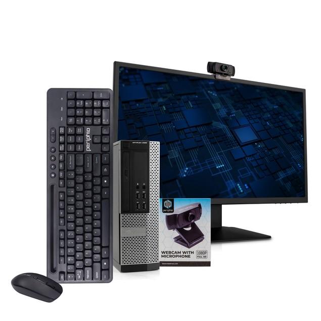 """Dell 9020 Desktop Intel i5 16GB 512GB SSD Windows 10 Professional 24"""" Monit"""