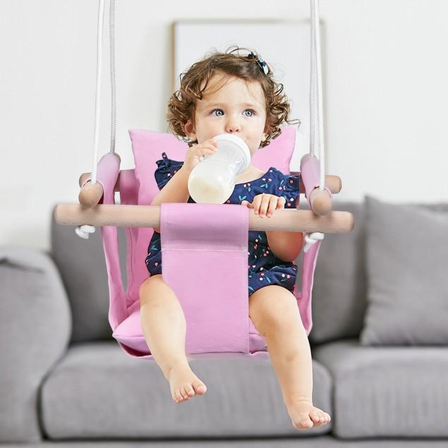 Costway Indoor/Outdoor Baby Canvas Hanging Swing