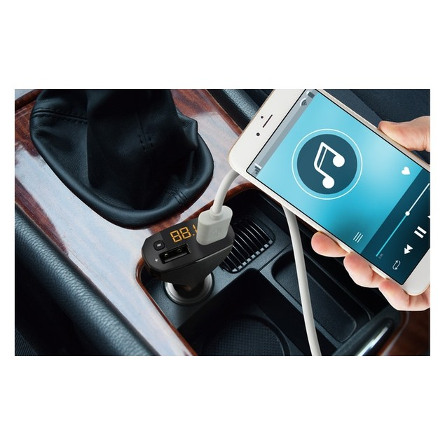 Aduro Bluetooth FM Transmitter with Dual-USB Car Charger