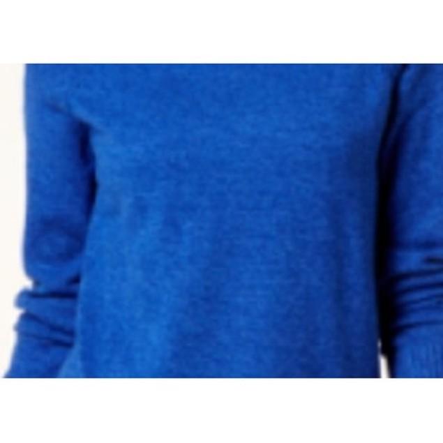 Karen Scott Women's Marled Cotton Turtleneck Sweater Blue Size X-Large