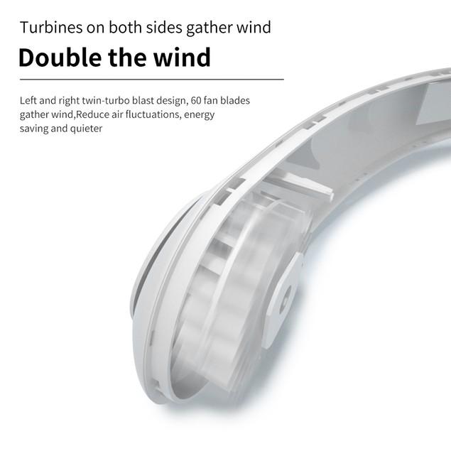 USB Portable Hanging Neck Fan Air Cooling Wearable Mini Fan Outdoor Sports