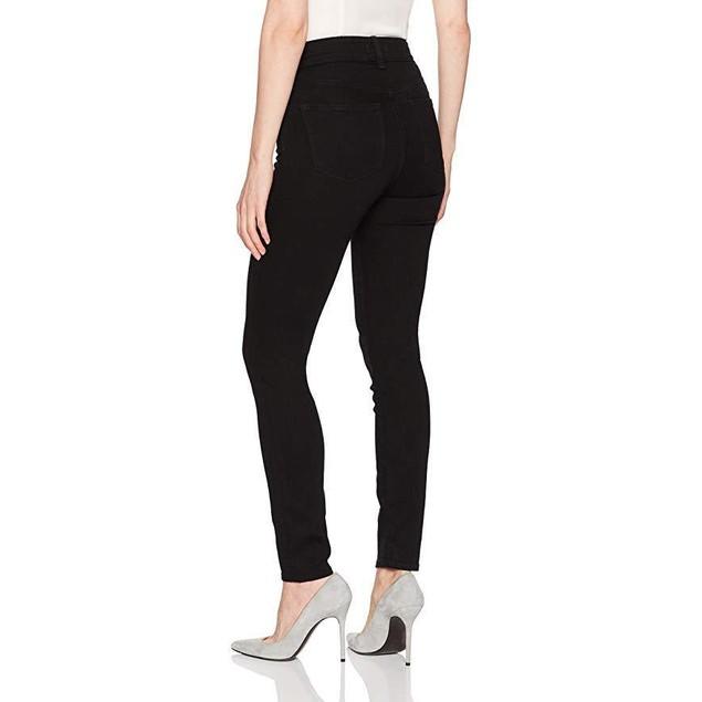 NYDJ Women's Ami Skinny Legging Jeans, Dark Black - Luxury Touch, SZ 0