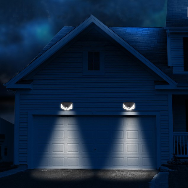 4Pcs 100 LED Solar PIR Motion Sensor Wall Light