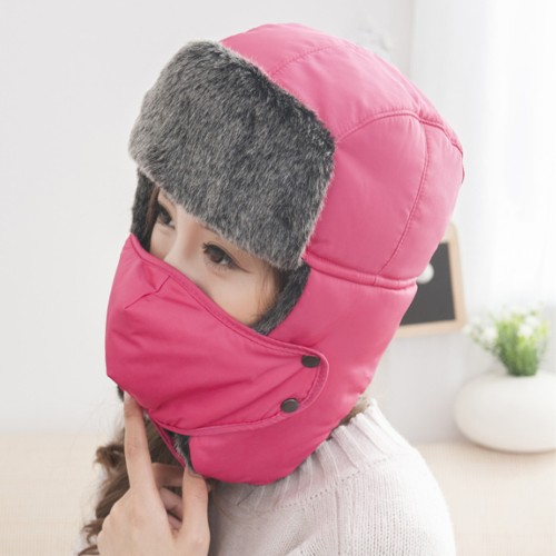 Polar Fleece Hat With Removable Face Mask - 5 Colors