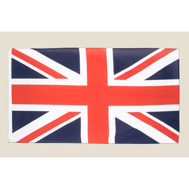 Great Britain 3x5 Flag Red White Blue Polyester 2 Brass Grommets British