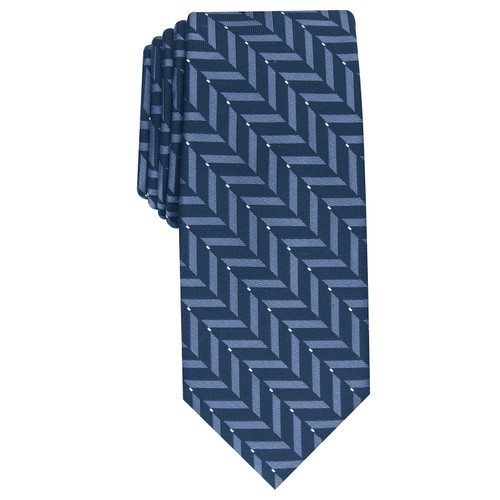 Alfani Men's Slim Geometric Tie Blue Size Regular