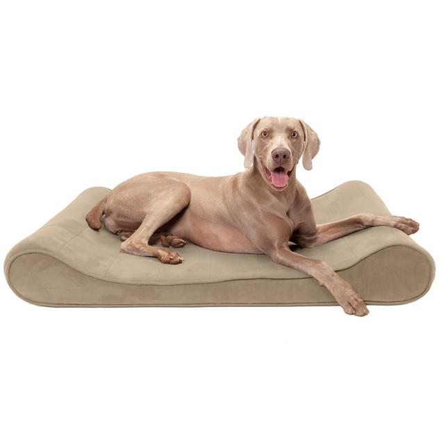 FurHaven Microvelvet Luxe Lounger Cooling Gel Pet Bed
