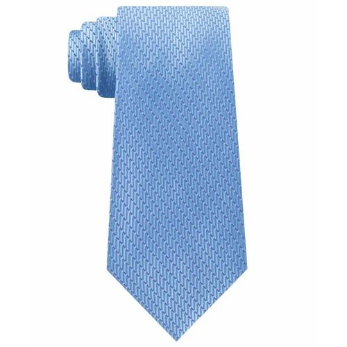Michael Kors Men's Classic Dash Stripe Satin Tie Baby Blue One Size