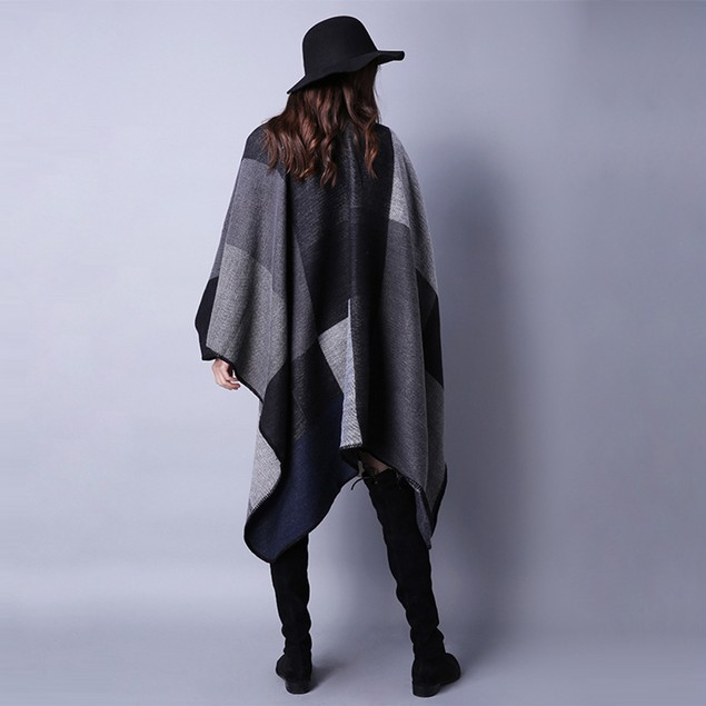 Women's Reversible Oversized Cardigan Shawl