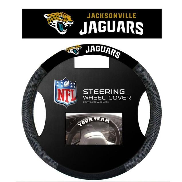 Jacksonville Jaguars Steering Wheel Cover NFL Football Team Logo Poly Mesh