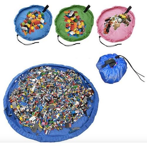 Foldable Large Portable Storage Organizer Kids Toy Bag Mat