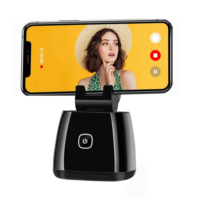 360 Rotation Auto Face Object Tracking Smart Shooting Camera Phone Mount Short Title