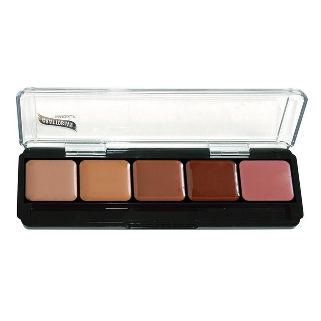Neutral Palette #4 HD Glamour Creme Foundation Palette Graftobian 5 Shades